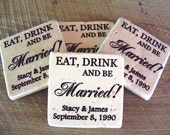 Eat Drink and be Married Wedding Coasters
