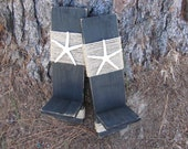 Reclaimed Upcycled Wood Plank Starfish Sconces - Wall Decor - Black - Beach Cottage - Home Decor - Nautical