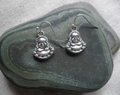 Silver Buddha Earrings - Buddha Jewelry - Simple Everyday - Unique & Fun Jewelry