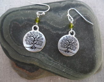 Tree of Life - Tree Earrings - Tree Jewelry - Whimsical - Simple - Everyday - Earrings - Green - Unique & Fun Jewelry