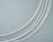 10 Yards 19 Gauge Millinery Wire White plus 12 Steel Joiners