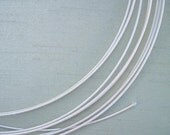 3 Yards 19 Gauge White Millinery Wire