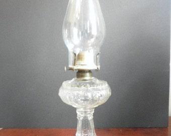 1885 Antique Oil Hurricane Lamp