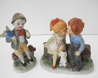 Pair of Bisque Children Figurines