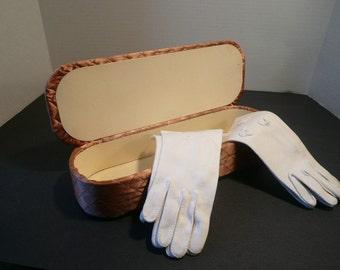 Quilted Ladies Glove Box Case Circa 1950s
