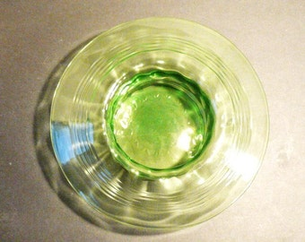 Dark Green Depression Glass Bowl