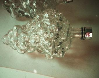 Individual Glass Grape Cluster Wine Servers Set of 4