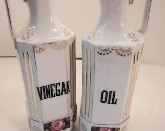 Oil and Vinegar Cruets Czechoslovakia
