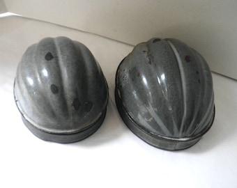 Glazed Melon Pudding Molds Circa 1930s