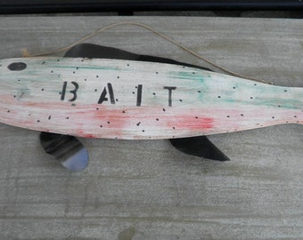 Large Rainbow Trout Bait Sign