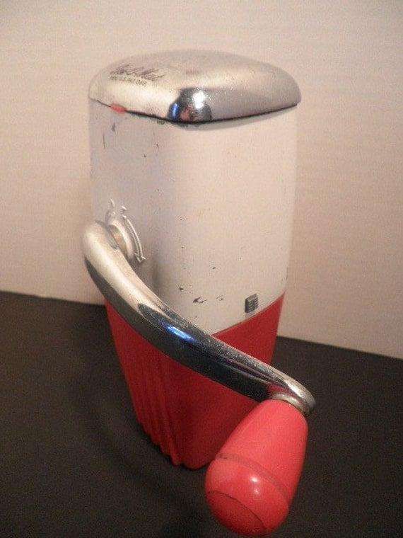 1950 S Ice O Mat Ice Crusher Red And White