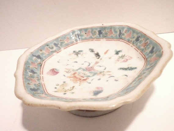 Ching Dynasty T ung Chih Offering Dish Circa 1862 / 1873