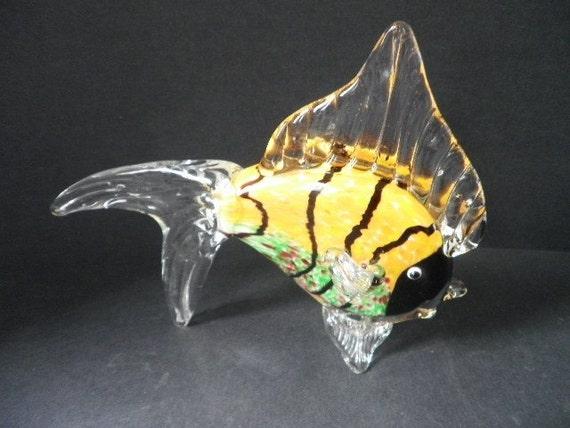 Large Vintage Murano Venetian Art Glass Decorative Fish for Bathrooms