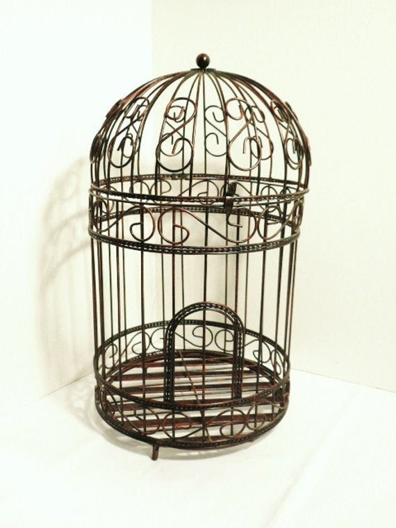decorative metal bird cage. Black Bedroom Furniture Sets. Home Design Ideas