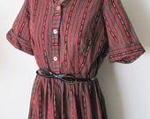 1960s Shirley Temple Stowaway button front dress large