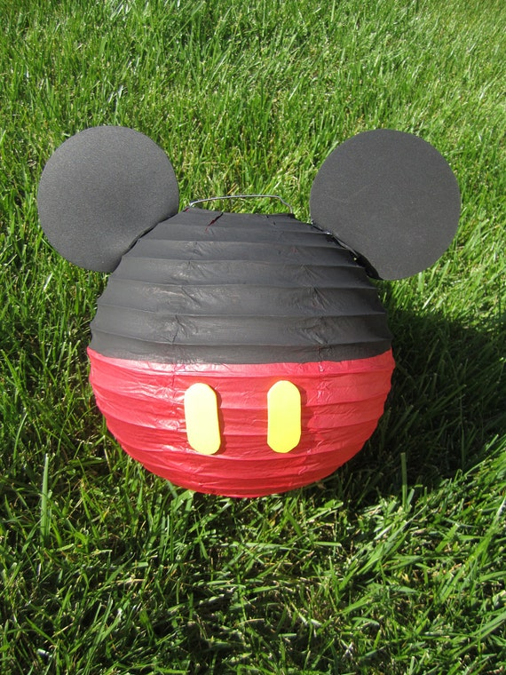 Mickey Mouse Inspired Red Paper Lantern Decoration
