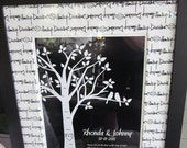 Personalized Custom Love Bird Wedding Family Tree - Art Family Tree Poster Print - 11x14