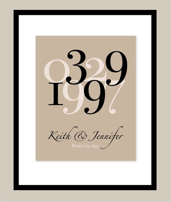 Wedding Date Art, Wedding Date Print, Wedding Date Sign, 20 Year Anniversary Gift, Personalized Wedding Gift, Custom Wedding Gift, 11x14