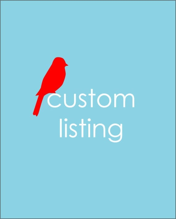 Custom Listing for Alison