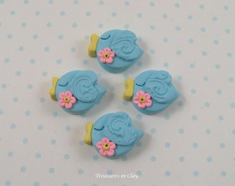 Polymer Clay Bluebird Beads