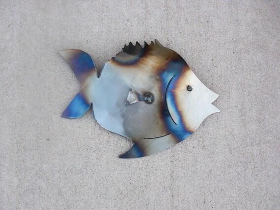 Metal fish wall art Pufferfish
