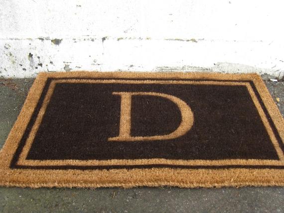 Monogrammed Coir Doormat