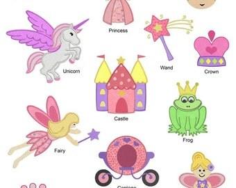 Princess Machine APPLIQUE Embroidery Designs