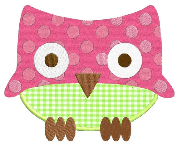 Fun owls applique machine embroidery designs from