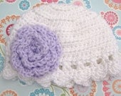 Rose beanie (made to order)