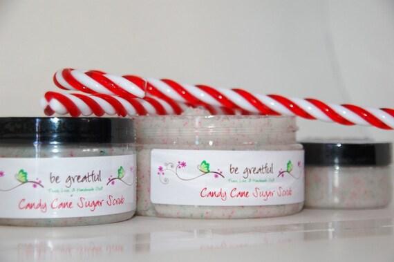 Candy Cane Sugar Scrub 4 Ounce Jar