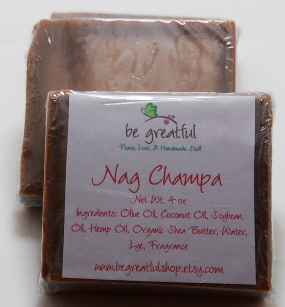 Vegan Nag Champa Cold Process Soap Bar
