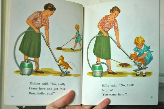 Vintage Dick and Jane Children's Book Early Reader 1961 Fun With Our Family