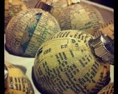 Christmas Tree Ornament Covered with Vintage book pages