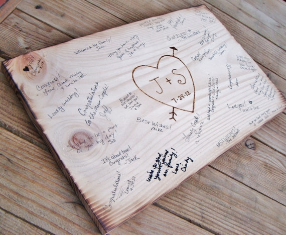 Items Similar To Rustic Wedding Guest Book Alternative