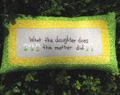Mother - Daughter Tuck Pillow