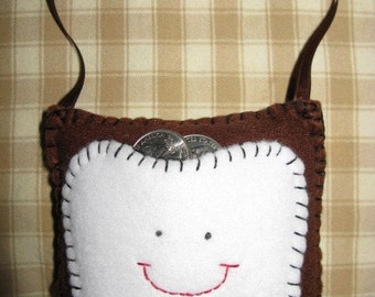 Chocolate Brown Tooth Fairy Pillow