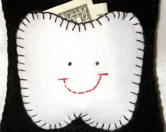 Tooth Fairy Pillow - Black and White