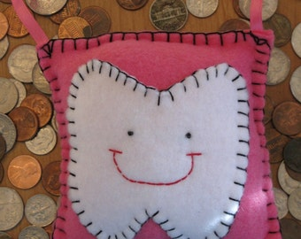 Tooth Fairy Pillow- Hot Pink