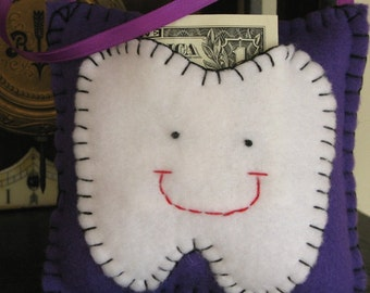 Purple Tooth Fairy Pillow