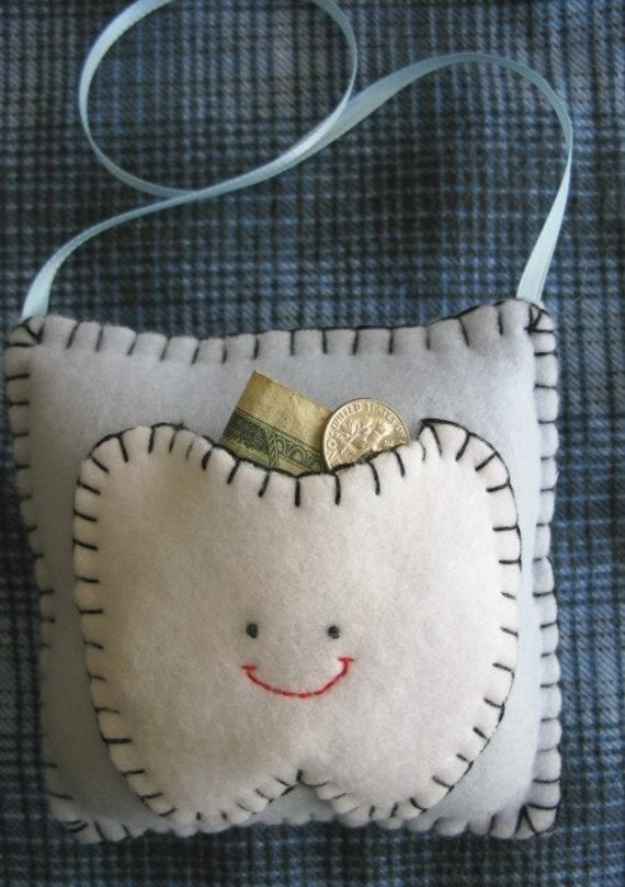 Light Blue Tooth Fairy Pillow