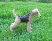 Airedale needle felted dog
