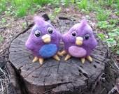 SALE Two purple swallows was 40