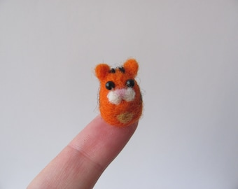 tiny needle felted tiger