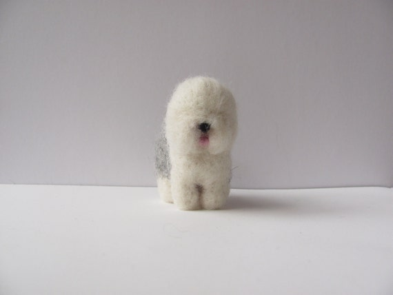 Miniature Old English Sheepdog by HandmadeByNovember on Etsy