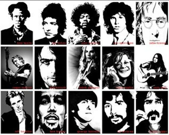 Legends of Rock (40 inch x 28 inch) - Very Big Poster