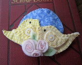 Mothers Day Birds Quilted Fabric Brooch SoMidTN