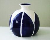Indigo Blue Pointy Petal Bud Vase