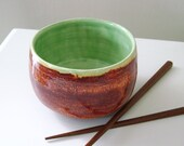 Jade Green and Brown Noodle Bowl