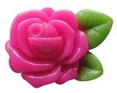 Hot Pink Rose Cabochon