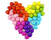 Rainbow Heart Beads